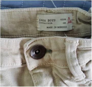 Calca sarja com stretch da Zara - 8 anos - Zara