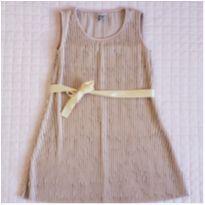 Vestido plissado - 3 anos - Pomposo
