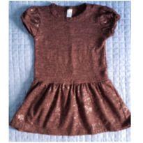 Vestido marrom com paetes Zara - 6 anos - Zara