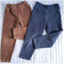 Kit c/ 2 leggings veludo cotele - 4 anos - Não informada