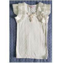 Linda t-shirt off-white da Tea Princess - 4 anos - Importada