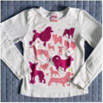 Camiseta em manga longa Alakazoo Dogs - 4 anos - Alakazoo!