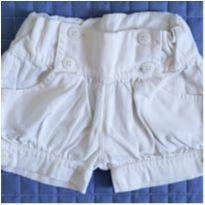 Shorts fofinho off-white - 3 anos - Não informada