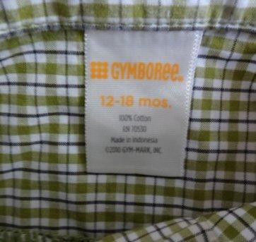 Camisa manga longa Gymboree - 12 a 18 meses - Gymboree