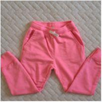 Calça moletom rosa fluor Zara - 7 anos - Zara Girls