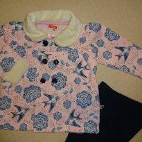 Conjunto inverno andorinhas tam G rosa/marinho - 9 a 12 meses - Marlan