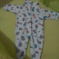"""Trio de macacão """"pijaminha"""" - 0 a 3 meses - LUIZINHO BABY"""