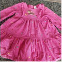 Vestido em veludo cotelê Gymboree 5T rosa - 5 anos - Gymboree