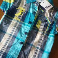 Camisa xandrez manga curta - 6 meses - Trick