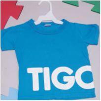 Camiseta Tigor azul turquesa 12 meses - 1 ano - Tigor T.  Tigre