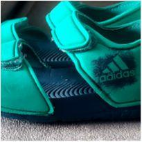 Sandalia adidas com velcro verde e azul tam 20 - 20 - Adidas