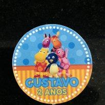 Rotulo  backyardigans GUSTAVO 2 ANOS - Sem faixa etaria - Não informada
