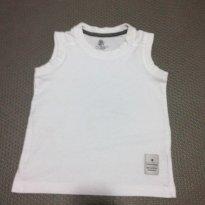 Camiseta regata branca - 12 a 18 meses - Póim