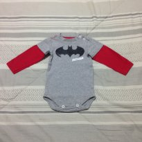 body Batman manga longa - 0 a 3 meses - DC Comics