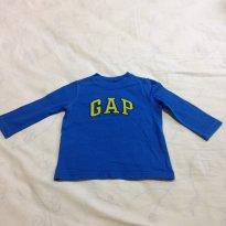 Camisa manga longa - 12 a 18 meses - GAP