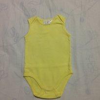 Body amarelo - 9 a 12 meses - Zara Baby