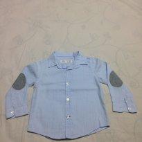 Camisa social azul - 12 a 18 meses - Zara Baby