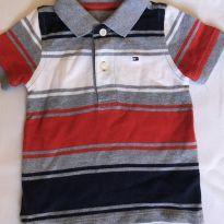 Camisa polo tommy - 6 a 9 meses - Tommy Hilfiger