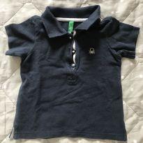 Camisa polo Benetton - 9 meses - Benetton Baby