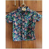 Camisa havaiana tropical menino