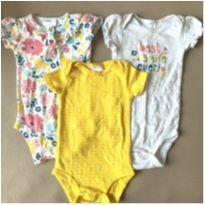 Trio bodys carter`s - 3 a 6 meses - Carter`s e Child of Mine
