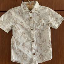 Camisa tropical off white - 2 anos - Poim