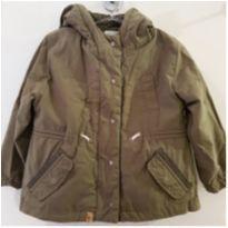 Jaqueta Inverno Zara Baby Com Capuz Verde Militar 2 A 3 Anos - 2 anos - Zara Baby