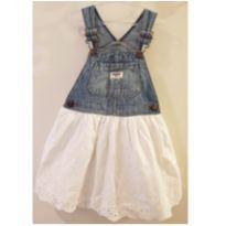 Vestido Jardineira Infantil Em Jeans Oshkosh Tam 3 Anos - 3 anos - OshKosh