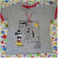 Camiseta Mickey & Pluto - 6 a 9 meses - Disney