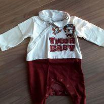 Macacão bebezinho Tigor - 0 a 3 meses - Tigor Baby