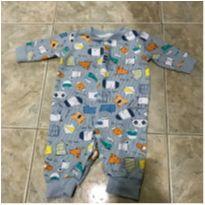 Macacão estampadinho - 3 a 6 meses - yoyo Baby