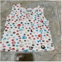 Camiseta algodão patinhas - 0 a 3 meses - Bebel Baby