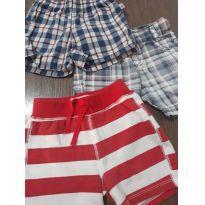 Trio de shorts 6/9 meses - 6 a 9 meses - Hering Baby e Clube do Doce