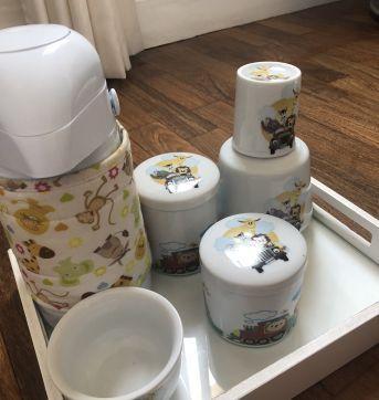 Kit Higiene Porcelana Safári - Sem faixa etaria - Não informada
