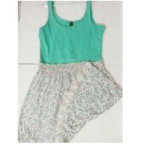 Vestido verdinho Floral ♥ - 11 anos - Desconhecida