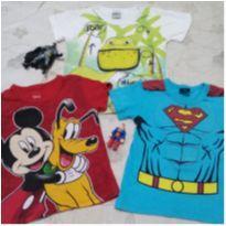 Lote - Camisetas estilosas: 3 Anos + BRINDE - 3 anos - Disney e kamilus