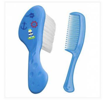 Escova e pente azul Neopan - Sem faixa etaria - Neopan