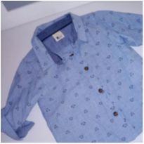Camisa social 6-9m
