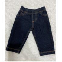 Calça moletom imitando jeans carters 6m - 6 meses - Carter`s