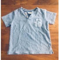 Camiseta zara baby azul - 6 a 9 meses - Zara