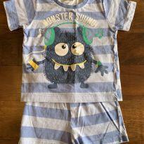 Pijama monstrinho 2 peças - 1 ano - Renner
