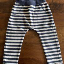 Calça moletom listras Zara baby - 18 a 24 meses - Zara Baby