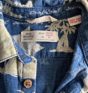 Camisa de linho Zara baby - 18 a 24 meses - Zara Baby