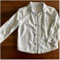 Camisa jeans estampa estrelas zara - 18 a 24 meses - Zara Baby