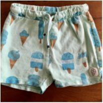 Short Zara estampa sorvete - 18 a 24 meses - Zara Baby