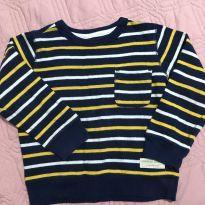 Blusa Carters manga comprida listrada - 3 anos - Carter`s