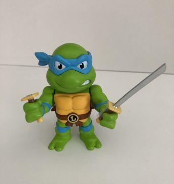 Boneco Leonardo tartaruga ninja colecionável , metal diecast, nickelodeon - Sem faixa etaria - nickelodeon