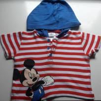 camiseta com touca do Mickey - 9 a 12 meses - Disney baby