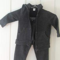 Conjunto de moletom cinza escuro - 12 a 18 meses - Baby Club