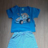 Pijama camiseta +shorts - 9 a 12 meses - Kyly